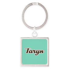 Taryn Aqua Square Keychain
