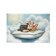 ByCatiaCho Yorkie Tink Rectangle Magnet