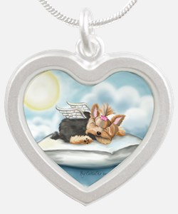 ByCatiaCho Yorkie Tink Silver Heart Necklace