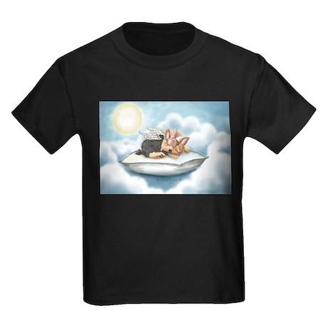 ByCatiaCho Yorkie Tink Kids Dark T-Shirt