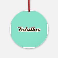 Tabitha Aqua Ornament (Round)