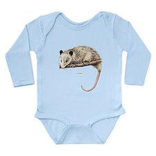 Opossum Animal Long Sleeve Infant Bodysuit