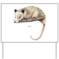 Opossum Animal Yard Sign