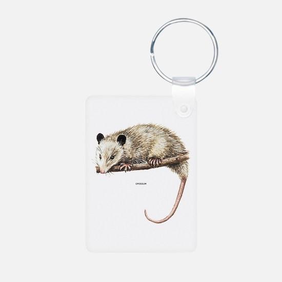 Opossum Animal Aluminum Photo Keychain