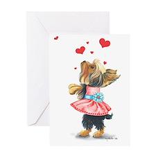 ByCatiaCho Yorkie Love Greeting Card