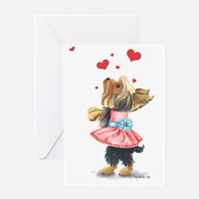 ByCatiaCho Yorkie Love Greeting Card