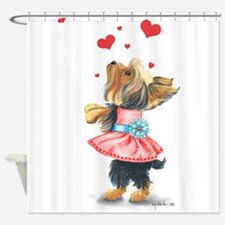 ByCatiaCho Yorkie Love Shower Curtain