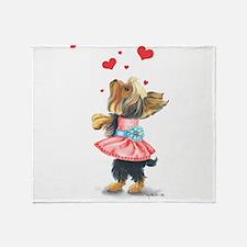 ByCatiaCho Yorkie Love Throw Blanket