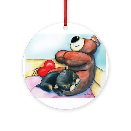 ByCatiaChoYorkie Friend Ornament (Round)