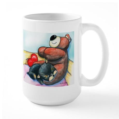ByCatiaChoYorkie Friend Large Mug