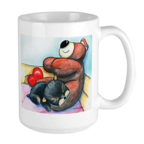 ByCatiaChoYorkie Friend Large Mug