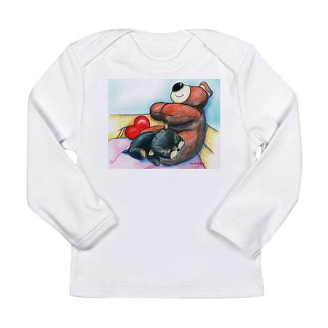 ByCatiaChoYorkie Friend Long Sleeve Infant T-Shirt