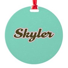 Skyler Aqua Ornament