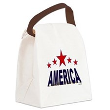 America Canvas Lunch Bag