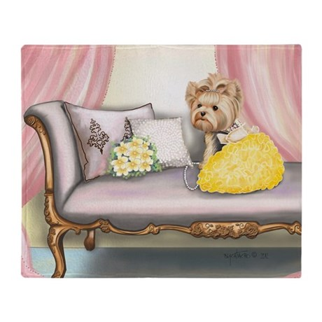 ByCatiaCho Yorkie Millie Throw Blanket
