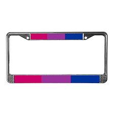 License Plate Frame - Bisexual Pride