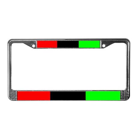 License Plate Frame - Black Pride