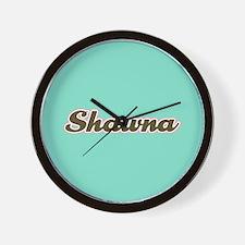 Shawna Aqua Wall Clock