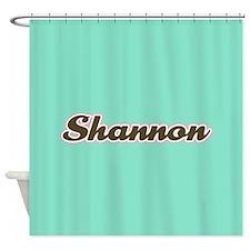 Shannon Aqua Shower Curtain