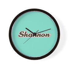 Shannon Aqua Wall Clock