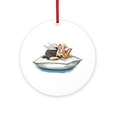 ByCatiaCho Yorkie Tink Ornament (Round)