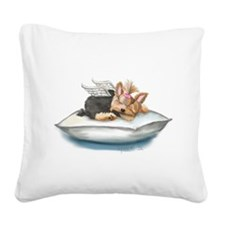 ByCatiaCho Yorkie Tink Square Canvas Pillow