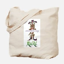 Reiki Healing hands chinese letters Tote Bag