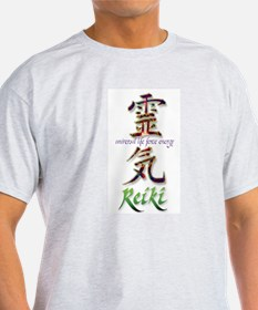 Reiki Healing hands chinese letters T-Shirt