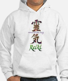 Reiki Healing hands chinese letters Hoodie