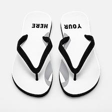 Gray Awareness Ribbon Customized Flip Flops