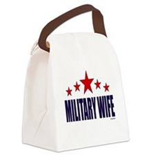 Military Wife Canvas Lunch Bag