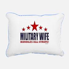 Military Wife Handles All Strife Rectangular Canva