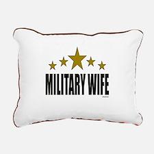 Military Wife Rectangular Canvas Pillow