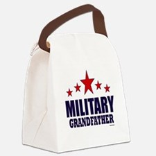 Military Grandfather Canvas Lunch Bag