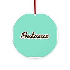 Selena Aqua Ornament (Round)