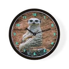 Kalahari Meerkat Wall Clock