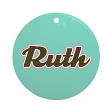Ruth Aqua Ornament (Round)