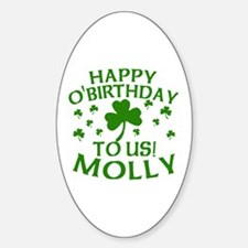 Personalized for Molly Sticker (Oval)