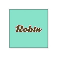 Robin Aqua Sticker