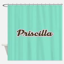 Priscilla Aqua Shower Curtain