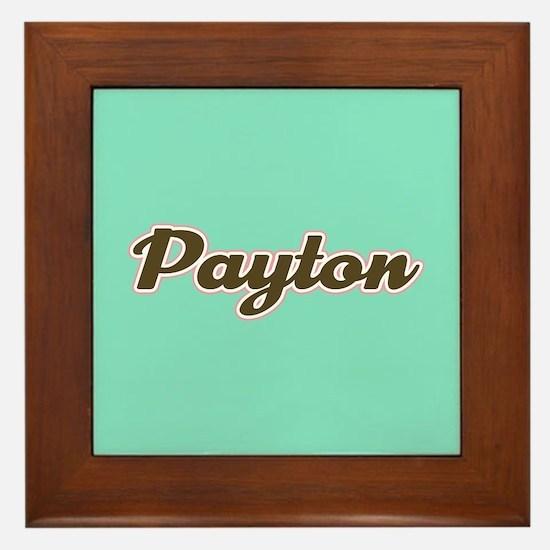 Payton Aqua Framed Tile