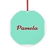 Pamela Aqua Ornament (Round)