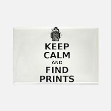 Keep Calm Fingerprints Rectangle Magnet