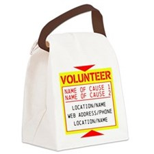 Volunteer Clean-Up Canvas Lunch Bag