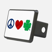Peace Love Shamrock Hitch Cover