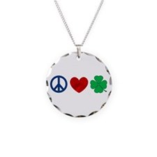 Peace Love Shamrock Necklace