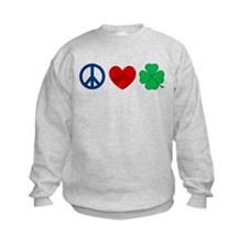 Peace Love Shamrock Sweatshirt