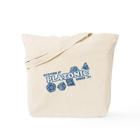 Platonic Love Since 74 Faded Tote Bag