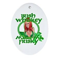 Irish Whiskey girl Ornament (Oval)