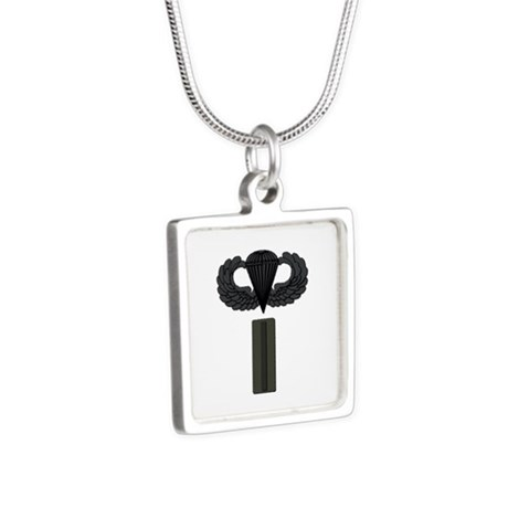 CW5 - Pin-On - Airborne Silver Square Necklace